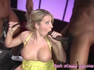 Another Double Dick Creampie - Barbie Cummings