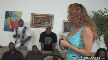 Janet Mason - Blacks On Blondes - Gangbang