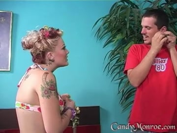 Mikey Eats Cum Off My Tits - Candy Monroe