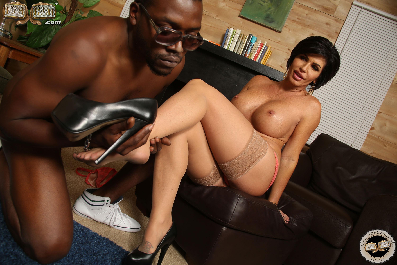 Black busty nude