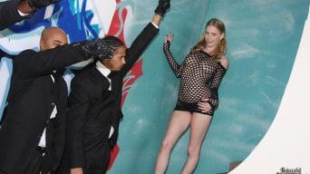Allie James in '- Interracial Blowbang'