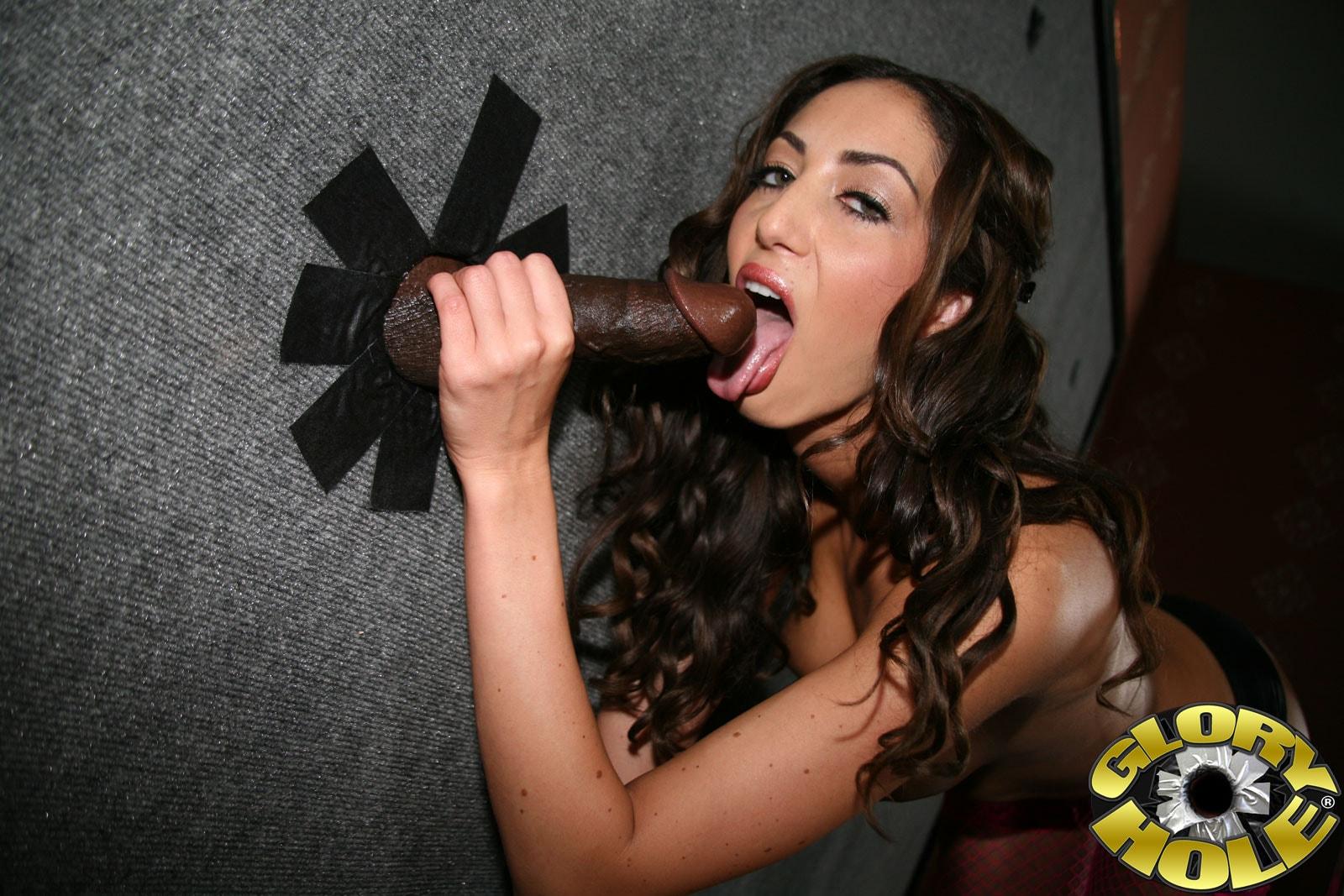 Angelica sage fucks black cock - gloryhole