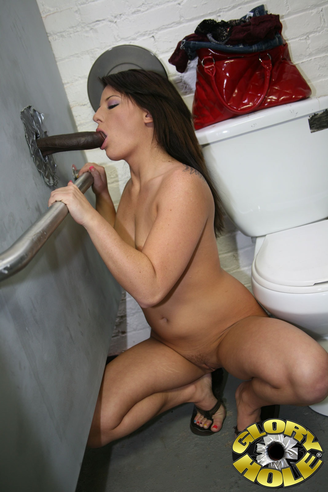 Hidden cam glory hole