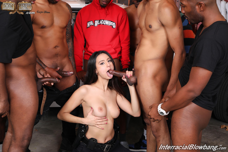 Dogfart '- Interracial Blowbang' starring Eliza Ibarra (Photo 11)