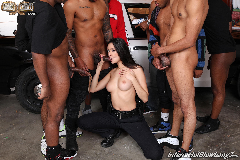 Dogfart '- Interracial Blowbang' starring Eliza Ibarra (Photo 12)