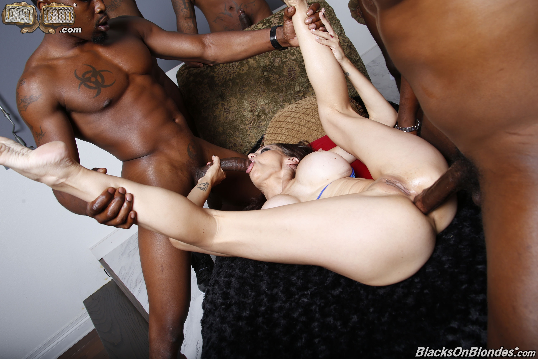 Romanian girl gangbang black cock 5