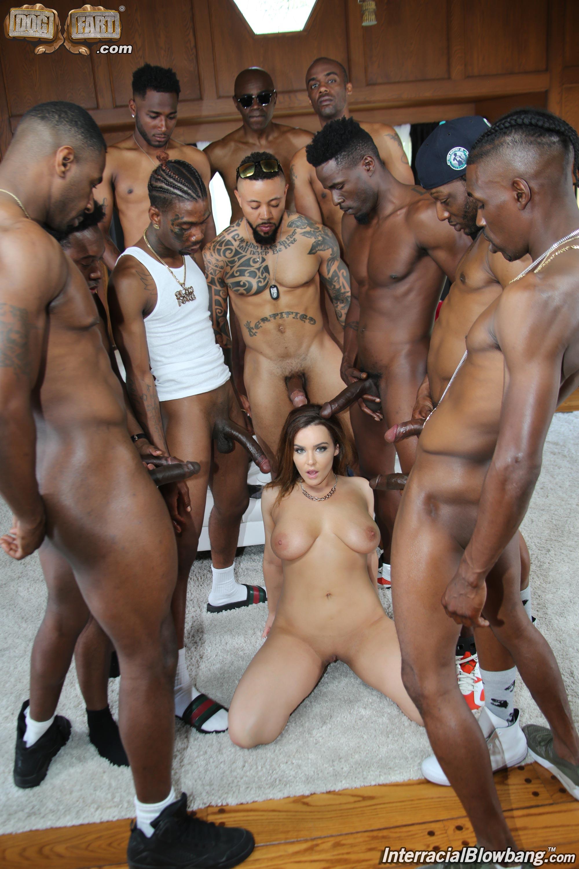 Forced black gangbang