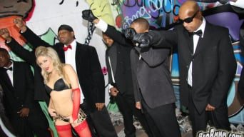 Paris Gables in '- Interracial Blowbang'